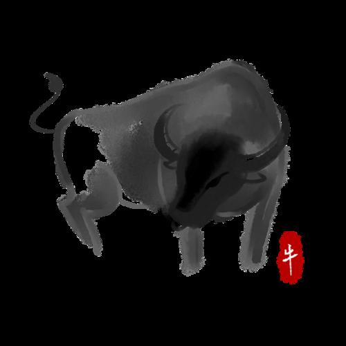 牛年写意画