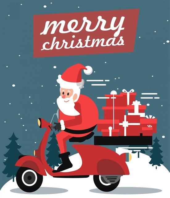 圣诞节派送礼物创意图片