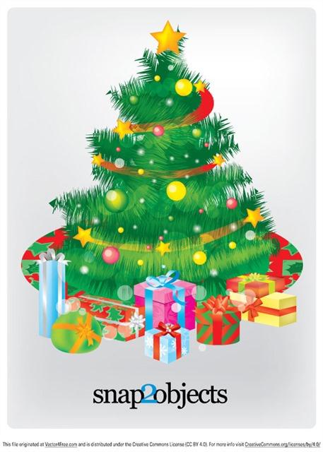 矢量圣诞树装饰元素