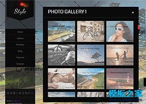 摄影作品展示网页设计模板