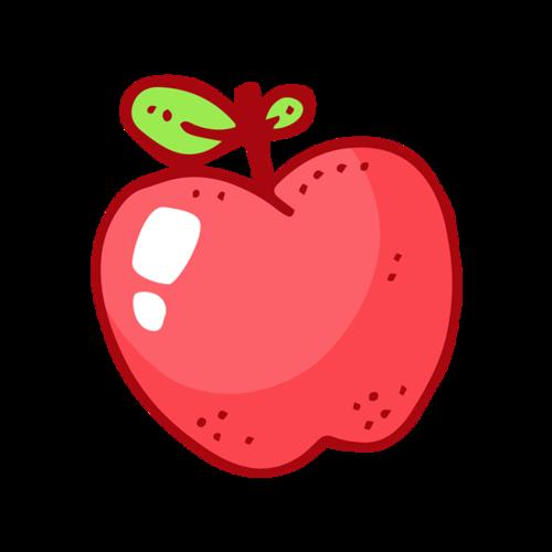 平安夜手绘苹果插画