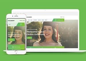在线教育培训机构网页模板