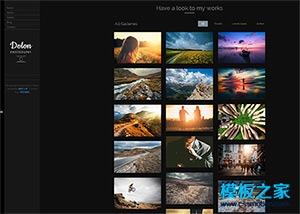 摄影图库展html5模板