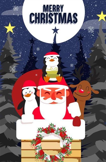 圣诞节祝福语贺卡图片