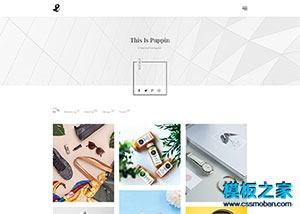 极简设计师作品展示网站模板
