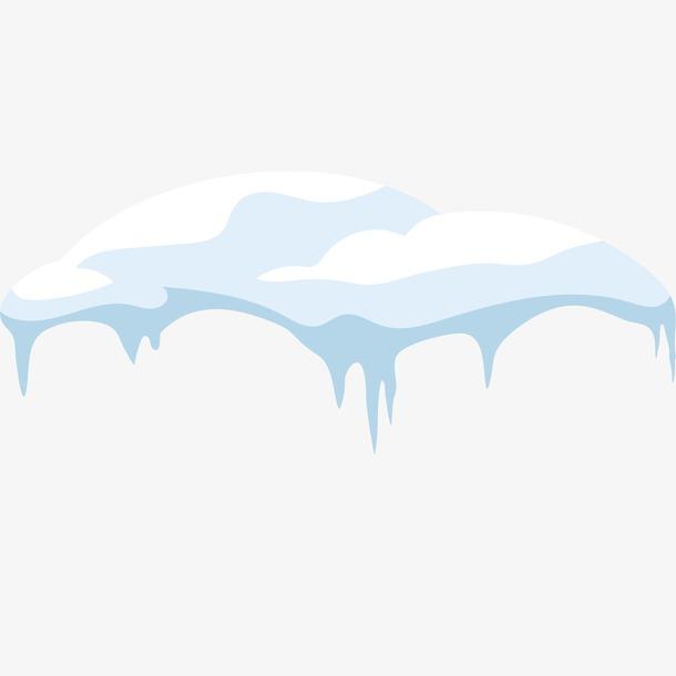手绘冬天冰雪雪块雪堆元素
