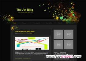 艺术设计个人博客模板