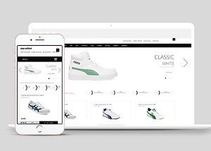 鞋类线上商城网站模板