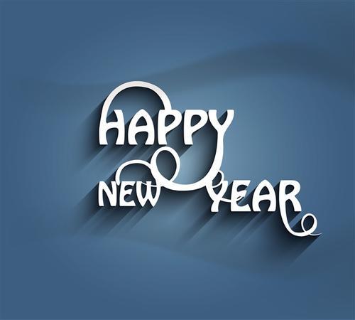 新年快乐简约背景