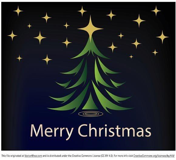 圣诞节圣诞树卡片封面