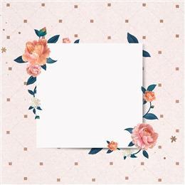 花卉文艺边框粉色背景