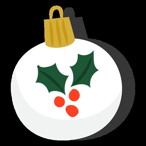 白色卡通圣诞吊球