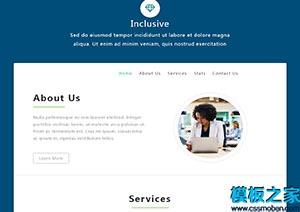统计师商业服务网站模板