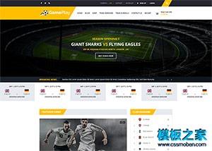 竞技运动门户网站模板