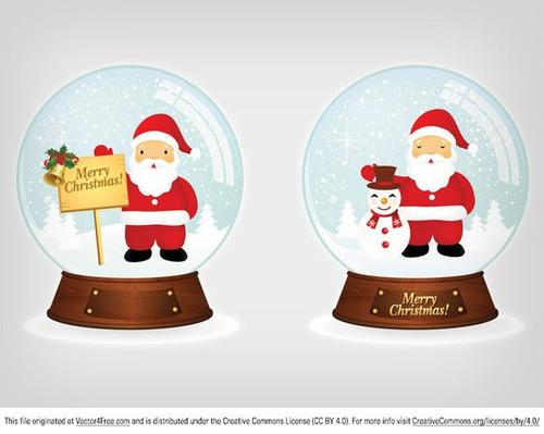 卡通圣诞水晶球装饰