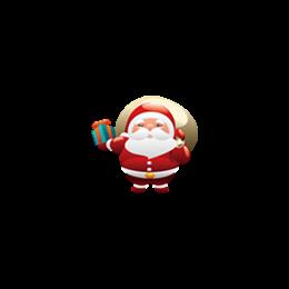圣诞老人送礼物贴纸