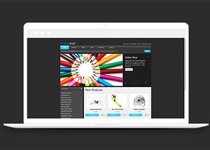 简单图文排版网上商铺商品销售网站模板