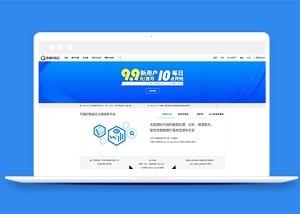计算机服务平台引导式网站模板