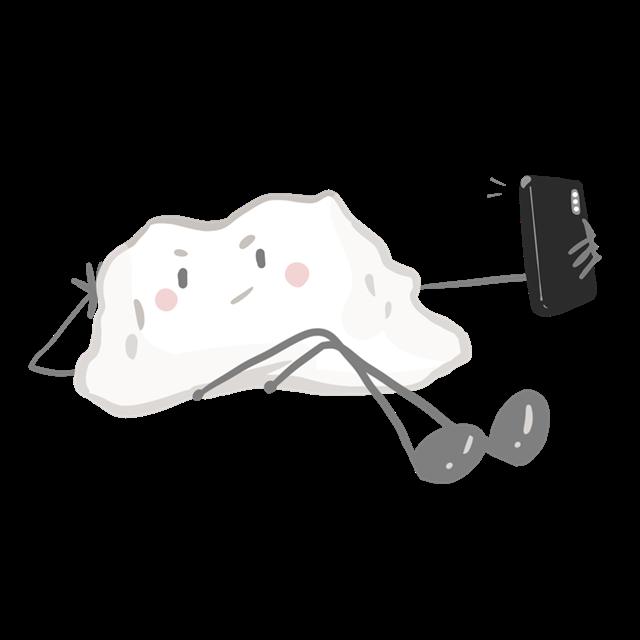 饺子绘画图片