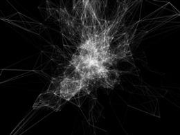 黑色线条立体效果图