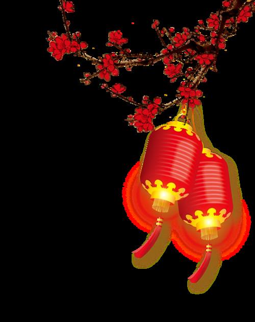 中国新年梅花灯笼