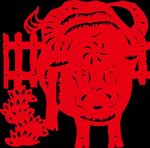 2021年春节牛年剪纸