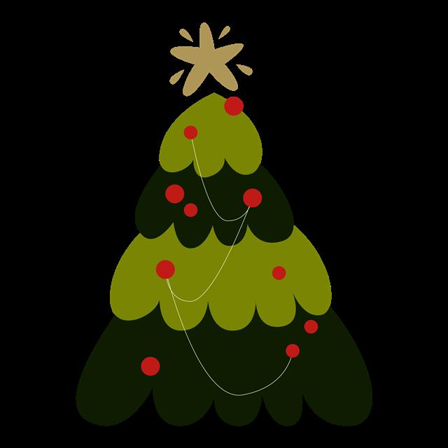 一棵绿色圣诞树AI矢量元素