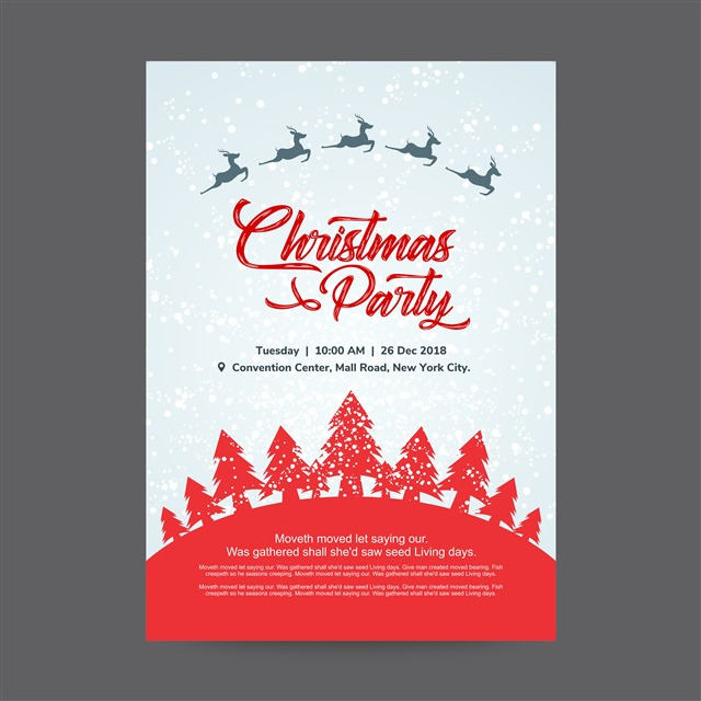 最新圣诞节贺卡背景插画