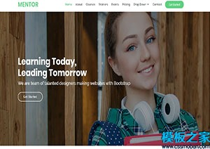 bootstarp教育网站模板