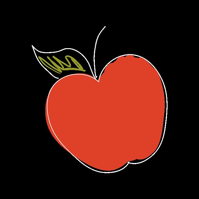 平安夜简笔画苹果