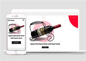 酒类简约葡萄酒商品外贸网站模板