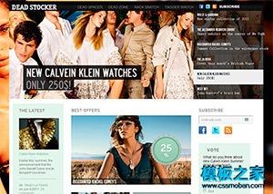 服装企业网站博客模板