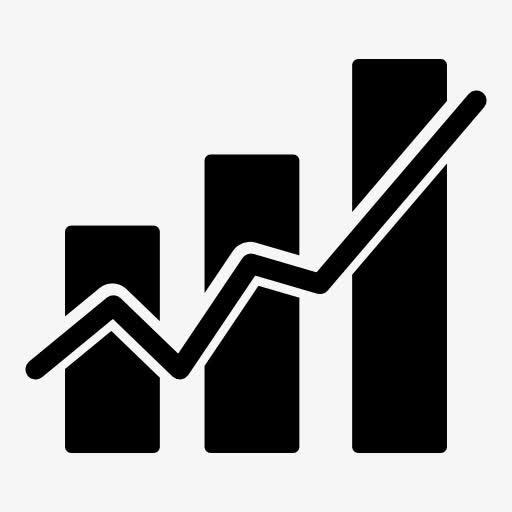 金融股票曲线图标
