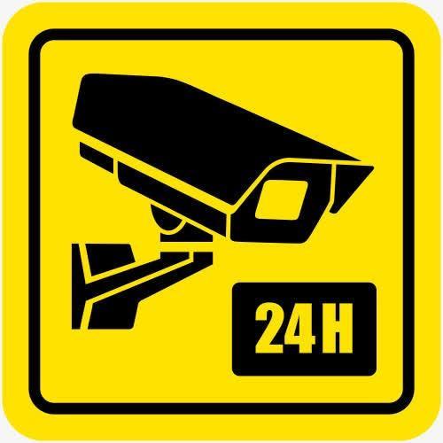 24小时摄像头监控标志