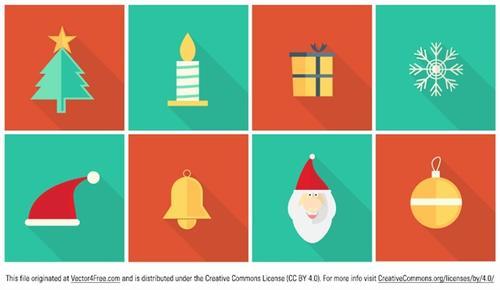 卡通圣诞元素图标