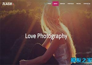 HTML5摄影单页网站模板