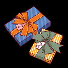圣诞节简笔画礼物盒