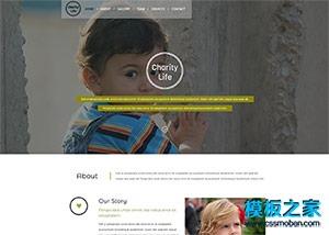 公益组织网站模板