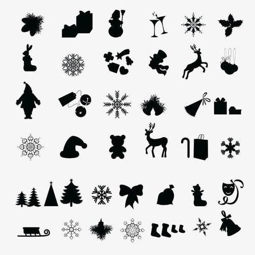 圣诞节日元素图标