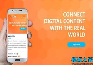 手机app单页网站模板