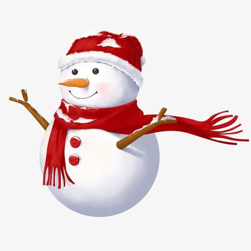 可爱圣诞小雪人装饰图案