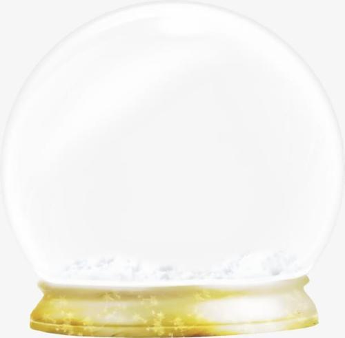 圣诞节水晶球样机