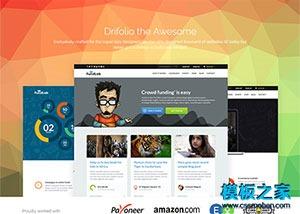 UI设计师个人作品集简历网站模板