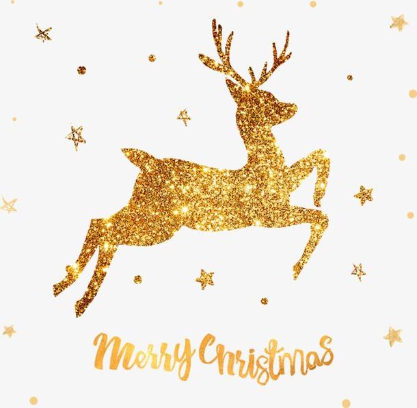 金色圣诞麋鹿