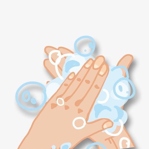 勤洗手宣传画儿童画