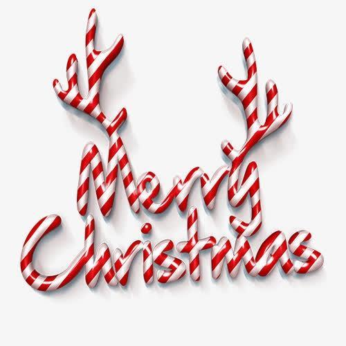 圣诞节创意鹿角艺术字体