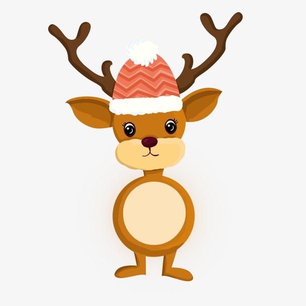 圣诞卡通麋鹿