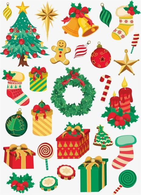 圣诞节可爱卡通装饰元素设计
