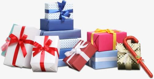 一堆礼物盒免抠