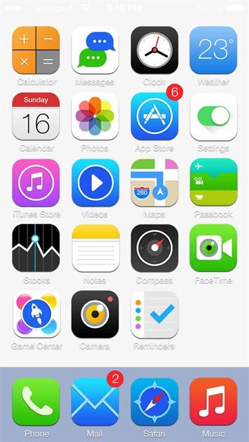 iphone手机应用界面